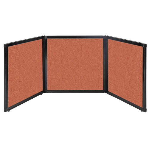 "Folding Tabletop Display 78"" x 24"" Papaya Fabric"