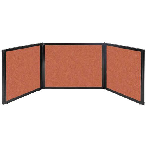 "Folding Tabletop Display 99"" x 24"" Papaya Fabric"