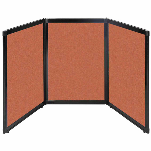 "Folding Tabletop Display 78"" x 36"" Papaya Fabric"