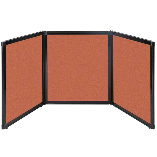 "Folding Tabletop Display 99"" x 36"" Papaya Fabric"