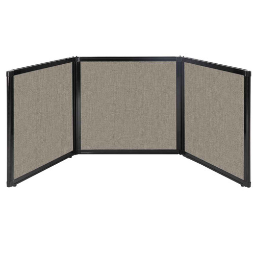"Folding Tabletop Display 78"" x 24"" Warm Pebble Fabric"