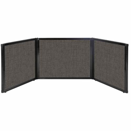 "Folding Tabletop Display 99"" x 24"" Warm Pebble Fabric"