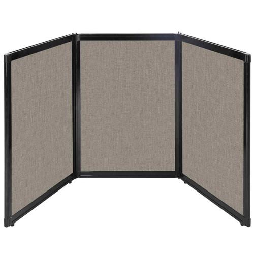 "Folding Tabletop Display 78"" x 36"" Warm Pebble Fabric"
