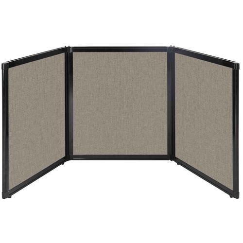 "Folding Tabletop Display 99"" x 36"" Warm Pebble Fabric"