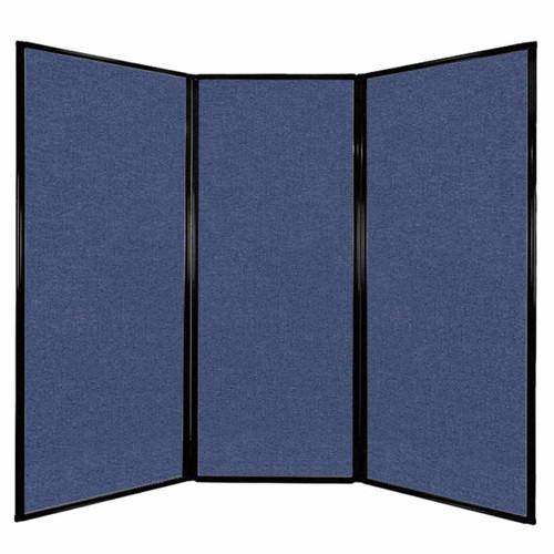 """Privacy Screen 7'6"""" x 6'8"""" Cerulean Fabric"""