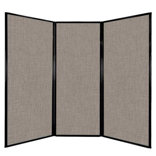 "Privacy Screen 7'6"" x 6'8"" Warm Pebble Fabric"