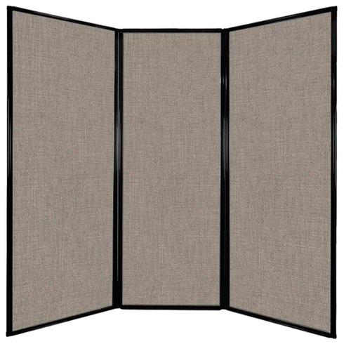 "Privacy Screen 7'6"" x 7'4"" Warm Pebble Fabric"