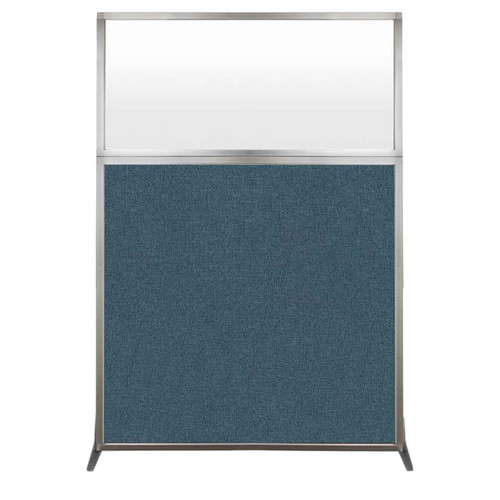 Hush Screen Portable Partition 4' x 6' Caribbean Fabric Frosted Window Without Wheels