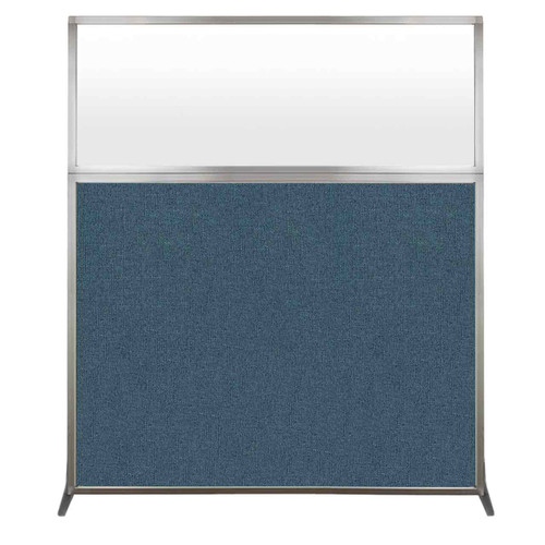 Hush Screen Portable Partition 5' x 6' Caribbean Fabric Frosted Window Without Wheels