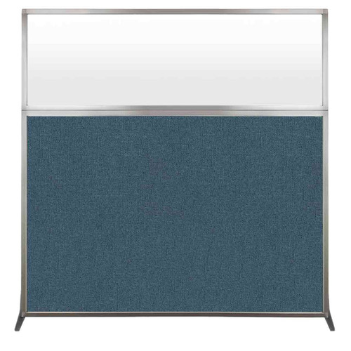 Hush Screen Portable Partition 6' x 6' Caribbean Fabric Frosted Window Without Wheels
