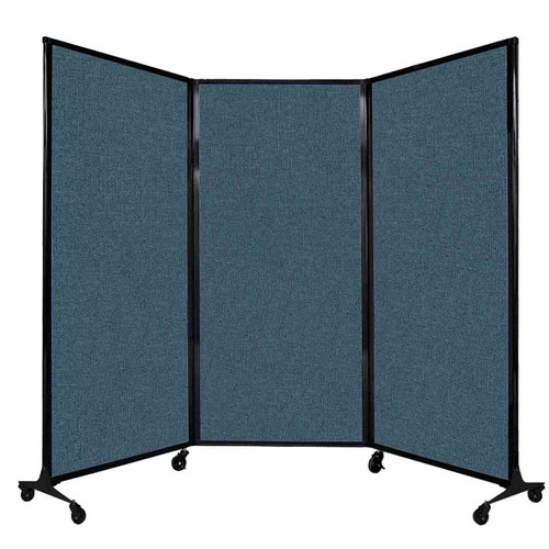 """QuickWall Folding Portable Partition 8'4"""" x 5'10"""" Caribbean Fabric"""