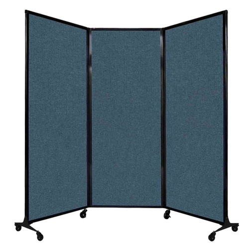"""QuickWall Folding Portable Partition 8'4"""" x 6'8"""" Caribbean Fabric"""