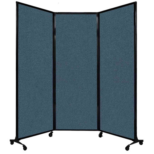 """QuickWall Folding Portable Partition 8'4"""" x 7'4"""" Caribbean Fabric"""