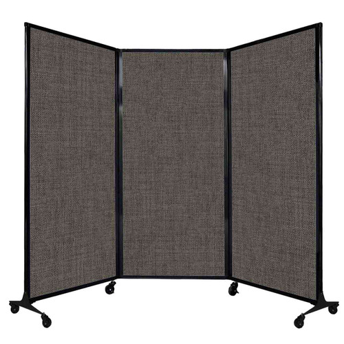 "QuickWall Folding Portable Partition 8'4"" x 5'10"" Mocha Fabric"