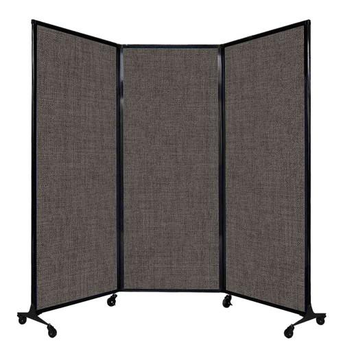 "QuickWall Folding Portable Partition 8'4"" x 6'8"" Mocha Fabric"