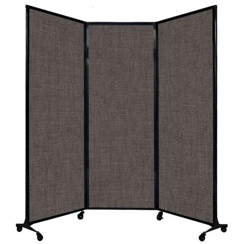 "QuickWall Folding Portable Partition 8'4"" x 7'4"" Mocha Fabric"