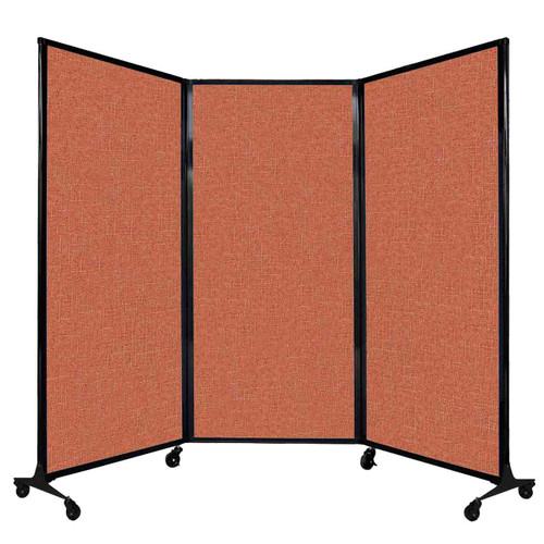 "QuickWall Folding Portable Partition 8'4"" x 5'10"" Papaya Fabric"