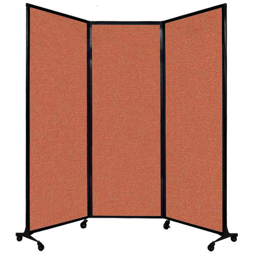 "QuickWall Folding Portable Partition 8'4"" x 7'4"" Papaya Fabric"