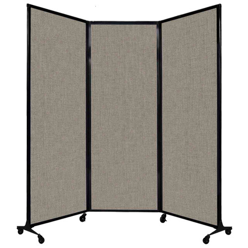 "QuickWall Folding Portable Partition 8'4"" x 7'4"" Warm Pebble Fabric"