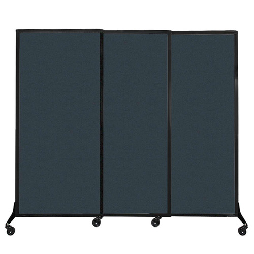 """QuickWall Sliding Portable Partition 7' x 5'10"""" Blue Spruce Fabric"""