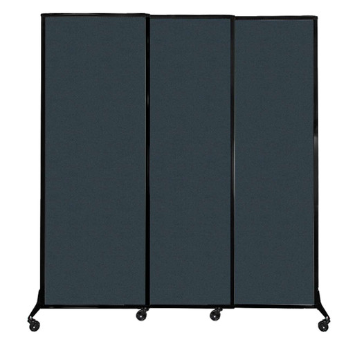 "QuickWall Sliding Portable Partition 7' x 7'4"" Blue Spruce Fabric"