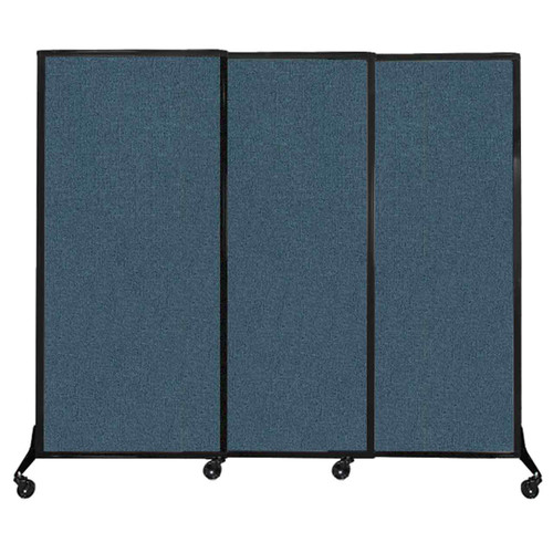 """QuickWall Sliding Portable Partition 7' x 5'10"""" Caribbean Fabric"""
