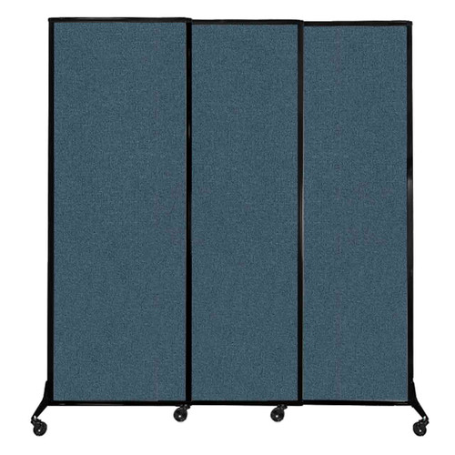 "QuickWall Sliding Portable Partition 7' x 7'4"" Caribbean Fabric"