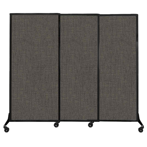 "QuickWall Sliding Portable Partition 7' x 5'10"" Mocha Fabric"