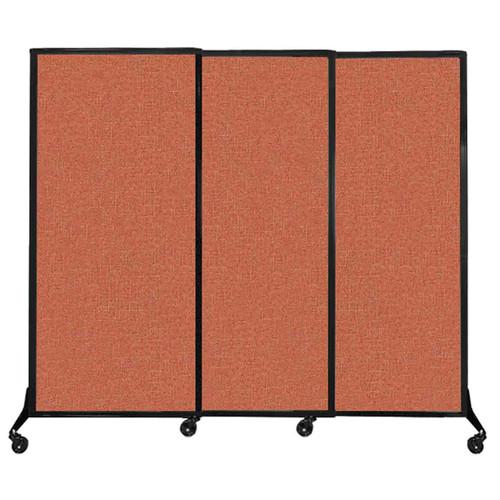 "QuickWall Sliding Portable Partition 7' x 5'10"" Papaya Fabric"