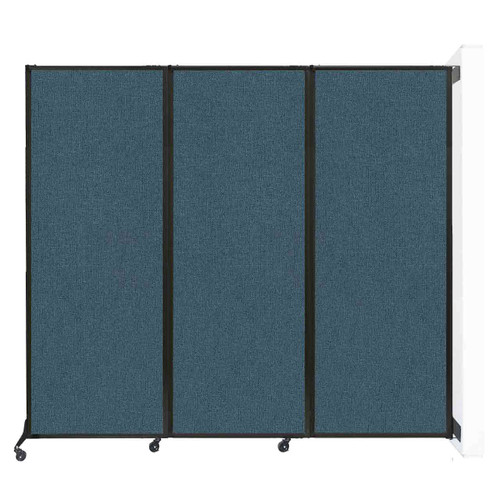 """Wall-Mounted QuickWall Folding Portable Partition 8'4"""" x 7'4"""" Caribbean Fabric"""
