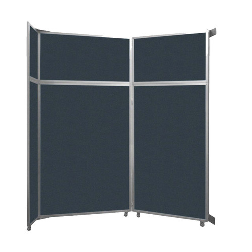 "Operable Wall Folding Room Divider 7'11"" x 8'5-1/4"" Blue Spruce Fabric"