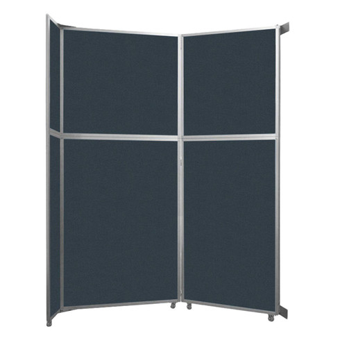 """Operable Wall Folding Room Divider 7'11"""" x 10'3/4"""" Blue Spruce Fabric"""