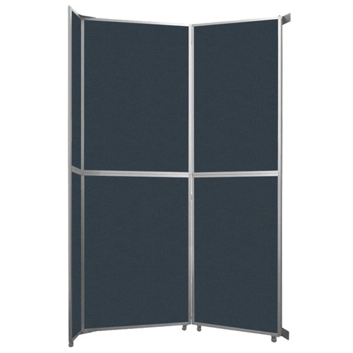 """Operable Wall Folding Room Divider 7'11"""" x 12'3"""" Blue Spruce Fabric"""
