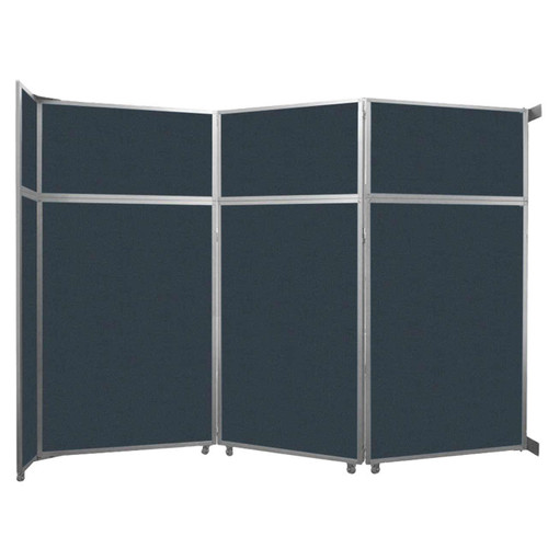 """Operable Wall Folding Room Divider 11'9"""" x 8'5-1/4"""" Blue Spruce Fabric"""