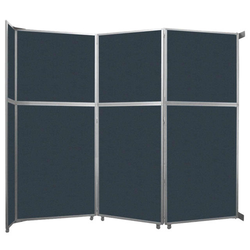 """Operable Wall Folding Room Divider 11'9"""" x 10'3/4"""" Blue Spruce Fabric"""