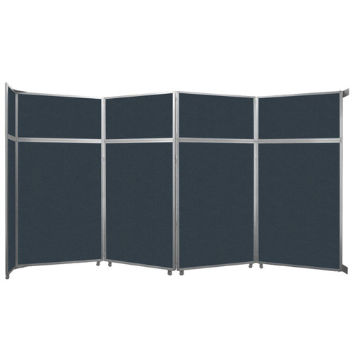 "Operable Wall Folding Room Divider 15'7"" x 8'5-1/4"" Blue Spruce Fabric"