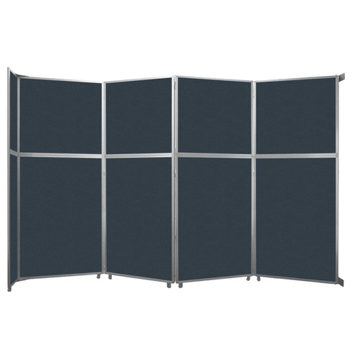 "Operable Wall Folding Room Divider 15'7"" x 10'3/4"" Blue Spruce Fabric"