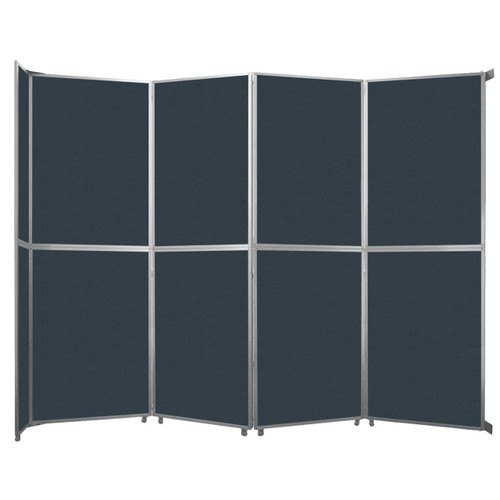 """Operable Wall Folding Room Divider 15'7"""" x 12'3"""" Blue Spruce Fabric"""