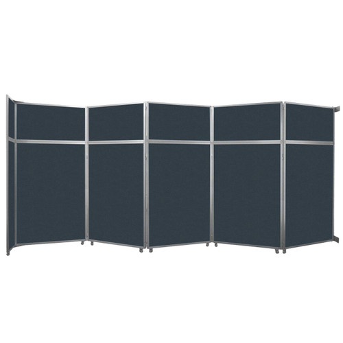 "Operable Wall Folding Room Divider 19'6"" x 8'5-1/4"" Blue Spruce Fabric"