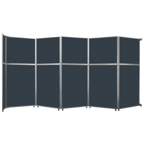 """Operable Wall Folding Room Divider 19'6"""" x 10'3/4"""" Blue Spruce Fabric"""