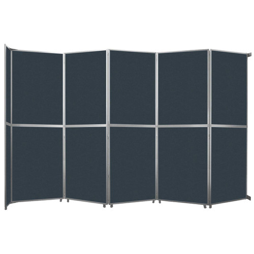 """Operable Wall Folding Room Divider 19'6"""" x 12'3"""" Blue Spruce Fabric"""