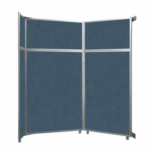 """Operable Wall Folding Room Divider 7'11"""" x 8'5-1/4"""" Caribbean Fabric"""