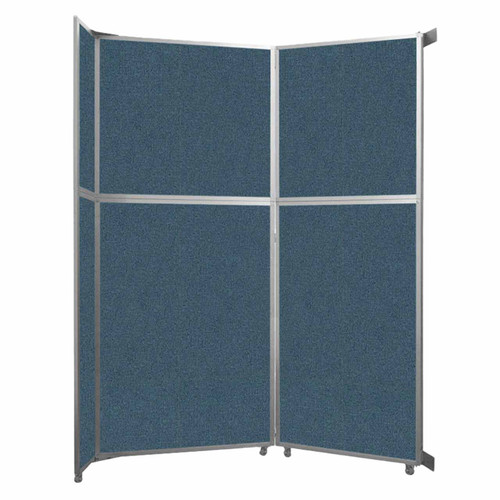 """Operable Wall Folding Room Divider 7'11"""" x 10'3/4"""" Caribbean Fabric"""