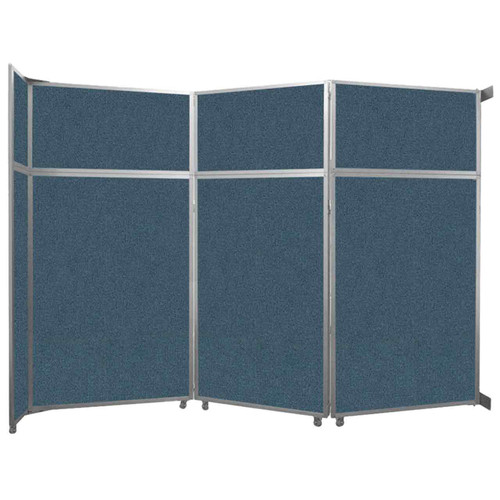 "Operable Wall Folding Room Divider 11'9"" x 8'5-1/4"" Caribbean Fabric"
