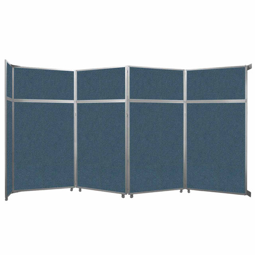 """Operable Wall Folding Room Divider 15'7"""" x 8'5-1/4"""" Caribbean Fabric"""