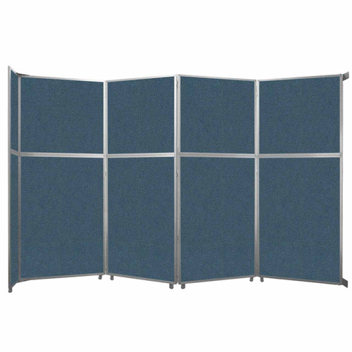 """Operable Wall Folding Room Divider 15'7"""" x 10'3/4"""" Caribbean Fabric"""