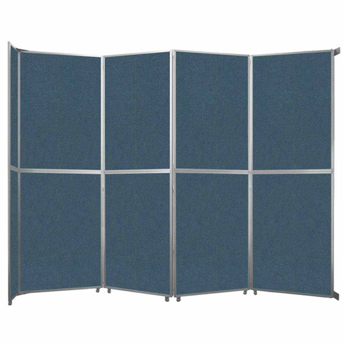 """Operable Wall Folding Room Divider 15'7"""" x 12'3"""" Caribbean Fabric"""
