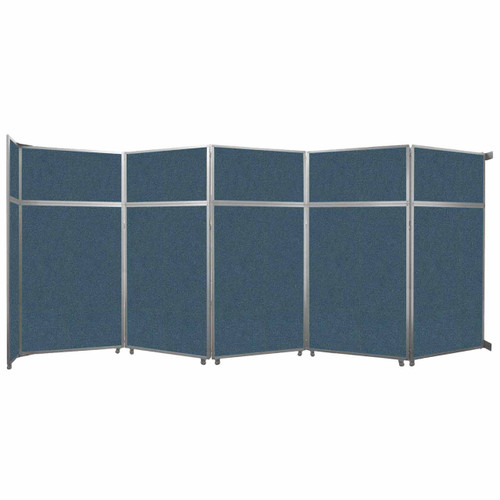 """Operable Wall Folding Room Divider 19'6"""" x 8'5-1/4"""" Caribbean Fabric"""