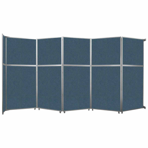 "Operable Wall Folding Room Divider 19'6"" x 10'3/4"" Caribbean Fabric"