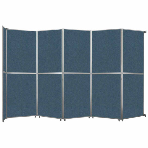 "Operable Wall Folding Room Divider 19'6"" x 12'3"" Caribbean Fabric"